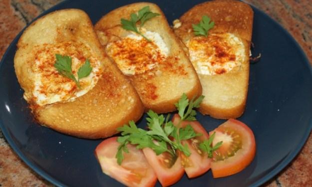 Бърза, лесна и вкусна закуска  с филийки с яйца