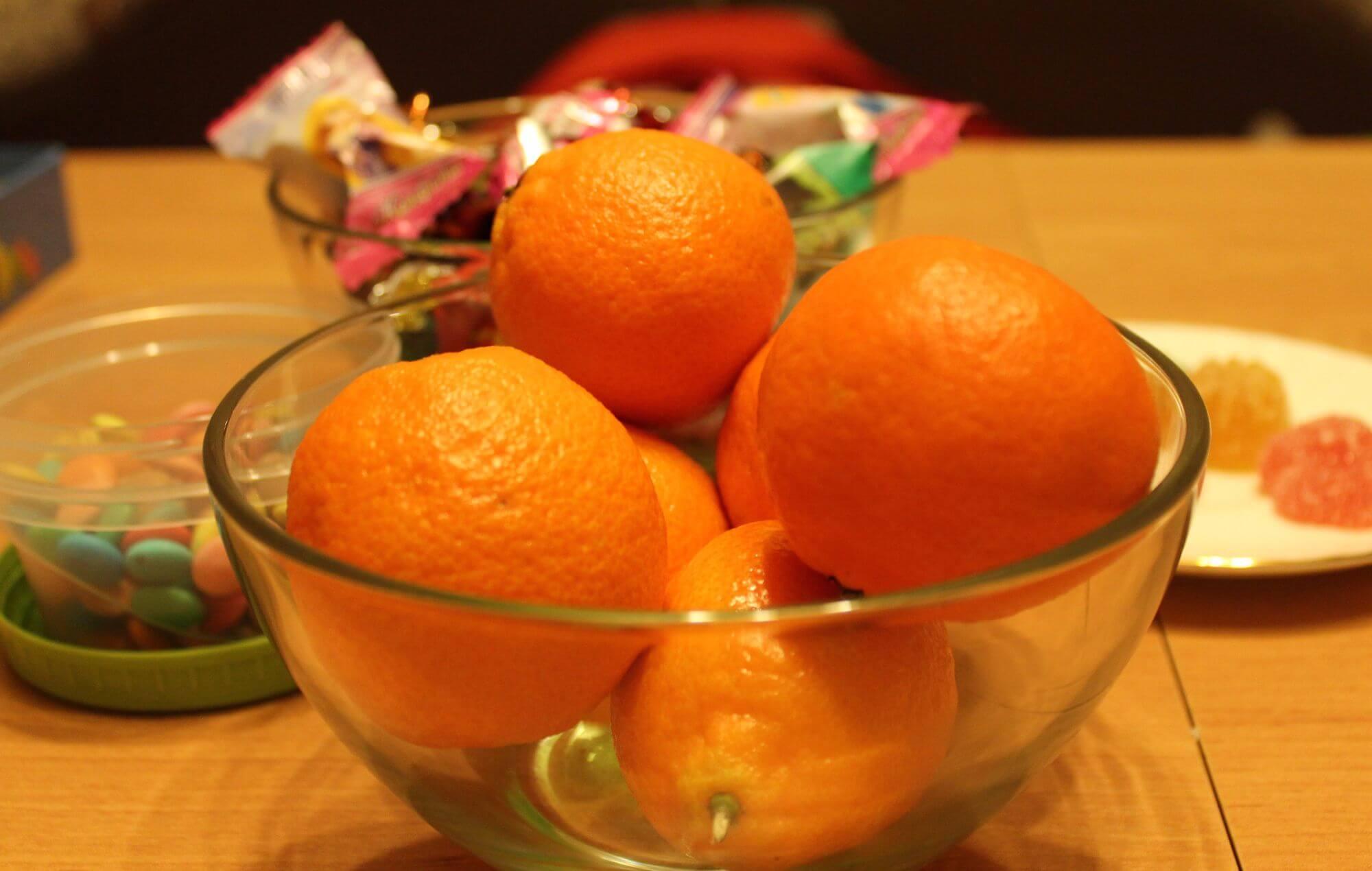 Как вывести мандарин с ткани