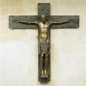 Das Mindener Kreuz aus dem frühen 12. Jahrhundert ist Herzstück im Domschatz Minden. Foto: Arnold Weigelt †