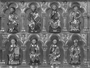 Die Mindener Bischöfe im Mittelalter, hier ein Ausschnitt aus der Goldenen Tafel, sind ein Thema der Vorträge. Foto: DVM/Amtage