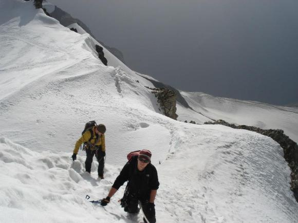 Final summit push on the Bishorn