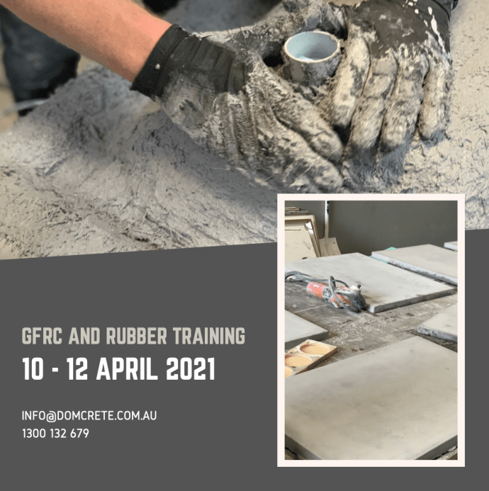 GFRC and Rubber Training