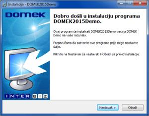 Početni prozor instalacijskog programa