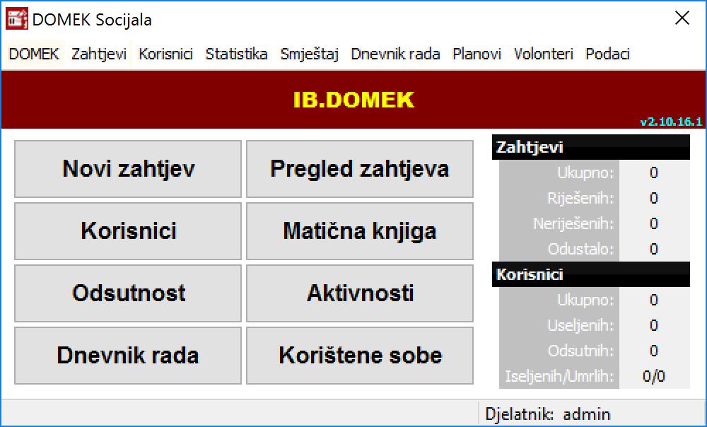 demo sustava domek