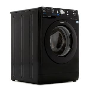PRODUCT Type Washing Machine Brand Indesit Model BWE91484XK DESCRIPTION Colour Black Door Colour Black Capacity (kg) 9 Spin Speed (rpm) 1400 FEATURES Delay StartMore Information... Yes Variable SpinMore Information... Yes Variable Temperature Yes Push and Wash Yes Water Balance Plus Yes PROGRAMMES Cottons Yes Delicates Yes ECO Cycles Yes Duvet Cycle Yes Silks Yes Auto Clean Yes Sports (Trainers) Yes Rapid 30 Yes EFFICIENCY Energy Efficiency Class A+++ Wash Performance Class A Spin Performance Class B PERFORMANCE Noise Level Washing (dB) 52 Noise Level Spinning (dB) 81 Annual Water Consumption (l) 11690 DIMENSIONS Height (mm) 850 Width (mm) 595 Depth (mm) 605 GUARANTEE 10 years parts and 1 years labour, subject to registration within 28 days of delivery