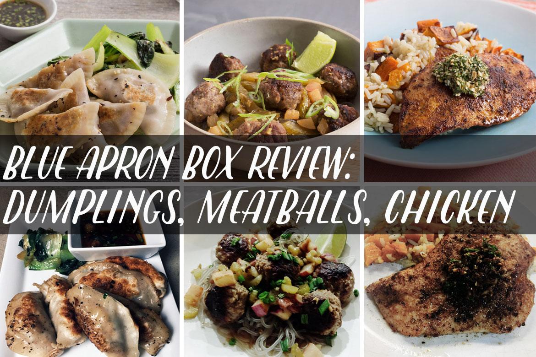 Blue apron meatballs - Blue Apron Box Review Vietnamese Meatballs Shrimp Dumplings Sauteed Chicken