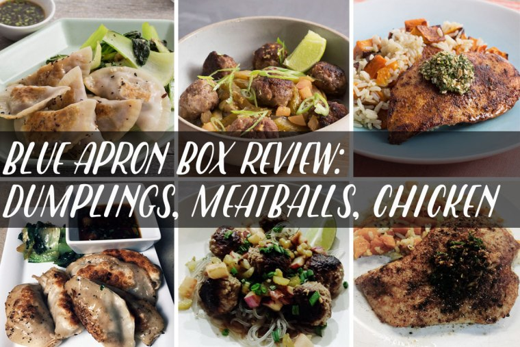 Blue Apron Box Review: Vietnamese Meatballs, Shrimp Dumplings, Sauteed Chicken