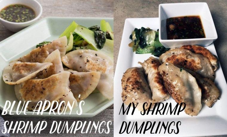 Blue Apron Review Shrimp Shiitake Dumplings with Bok Choy