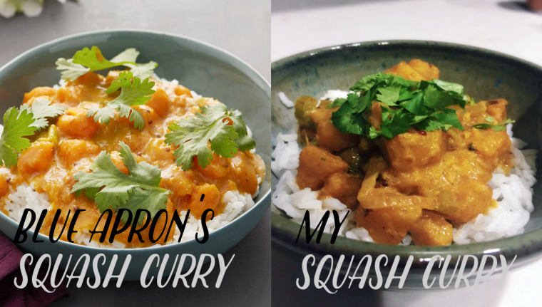 Blue Apron Review: South Indian Squash Curry