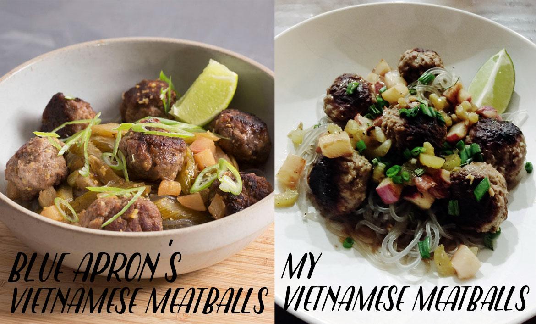 Blue apron meatballs - Blue Apron Review Vietnamese Meatballs With Sweet Potato Noodles
