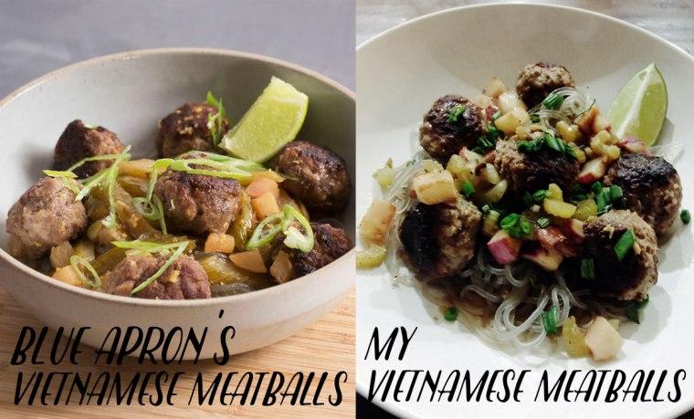Blue Apron Vietnamese Meatballs with Sweet Potato Noodles