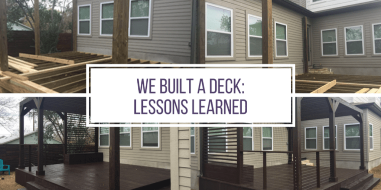 The process, takeaways, and lessons learned from having a contractor build a deck and pergola.