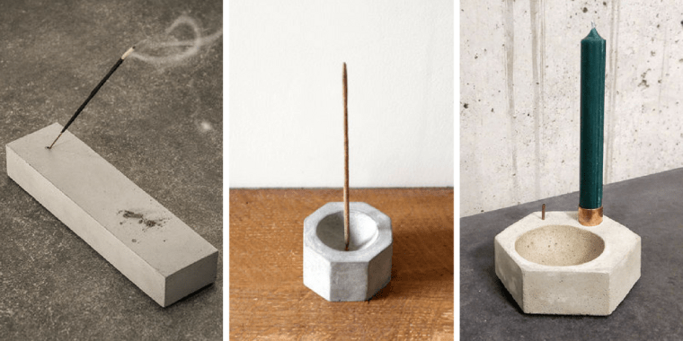 concrete incense burners inspiration