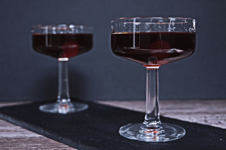 Sweet vermouth, stolen smoked rum, and honey syrup