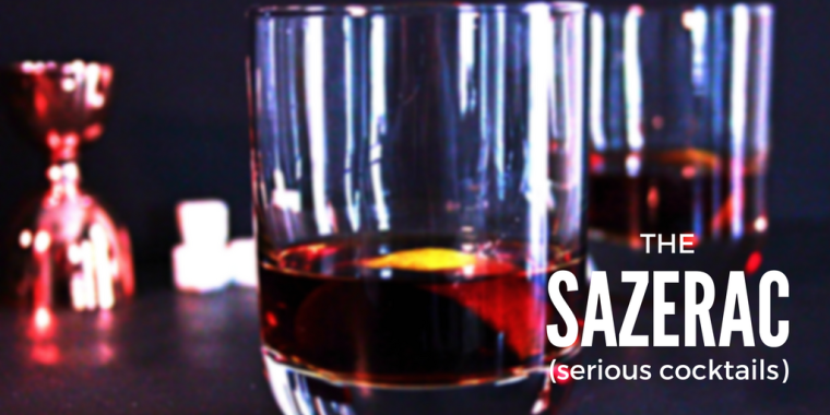 History & recipe for the Sazerac: rye whiskey, Peychaud's bitters, absinthe, sugar cube, and lemon peel. Learn to make it properly and thank me later!