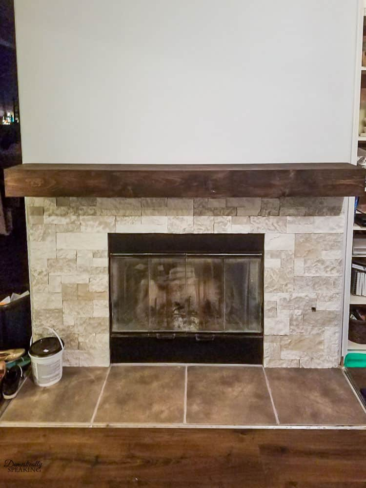 Build A Fireplace Build Your Own Rustic Fireplace Mantel - Domestically Speaking