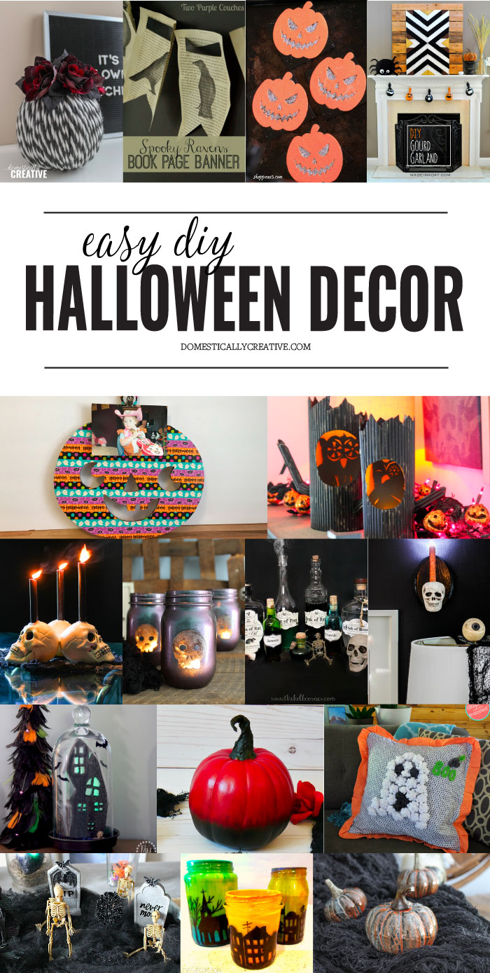 Easy Diy Halloween Decor Ideas Domestically Creative