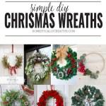 Simple Diy Christmas Wreaths Domestically Creative