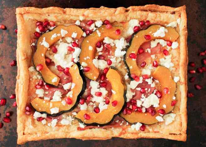Holiday-Appetizer-Acorn-Squash-Tart-With-Pomegranate-and-Prosciutto-4
