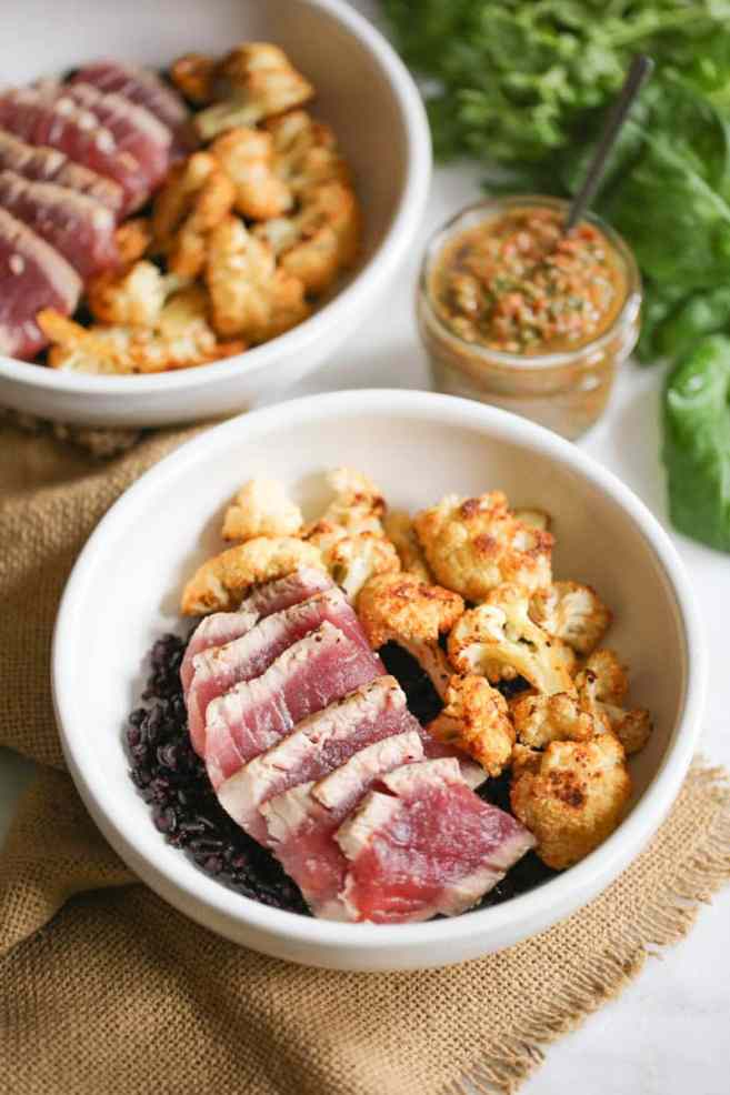seared-ahi-bowls-with-roasted-cauliflower-and-red-chimichurri-2