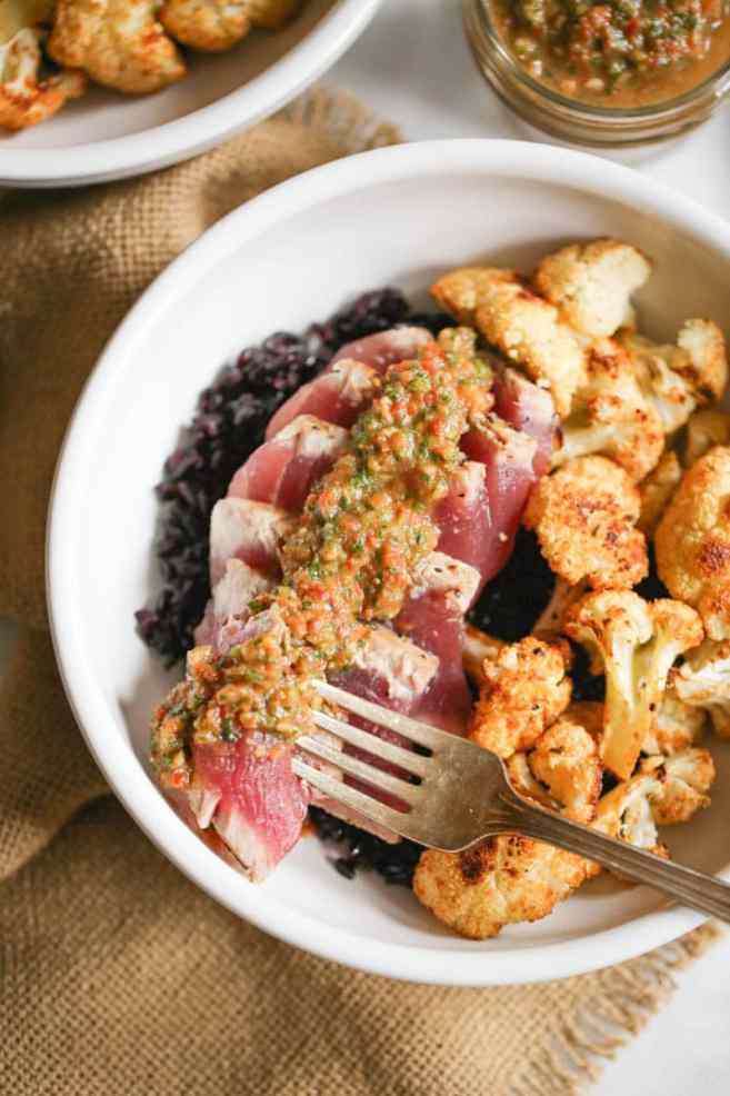 seared-ahi-bowls-with-roasted-cauliflower-and-red-chimichurri-6