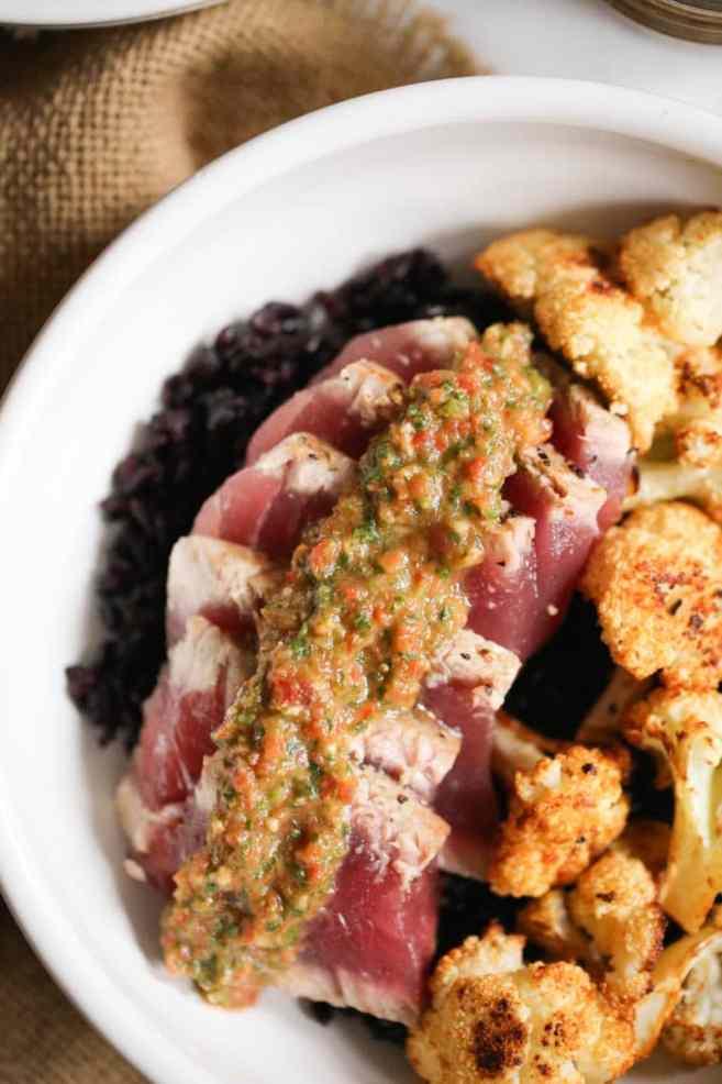 seared-ahi-bowls-with-roasted-cauliflower-and-red-chimichurri-9