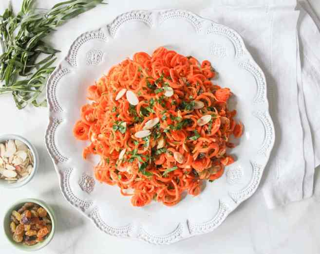 Spiralized-Carrot-Salad-with-Herbs-and-Toasted-Almonds-1