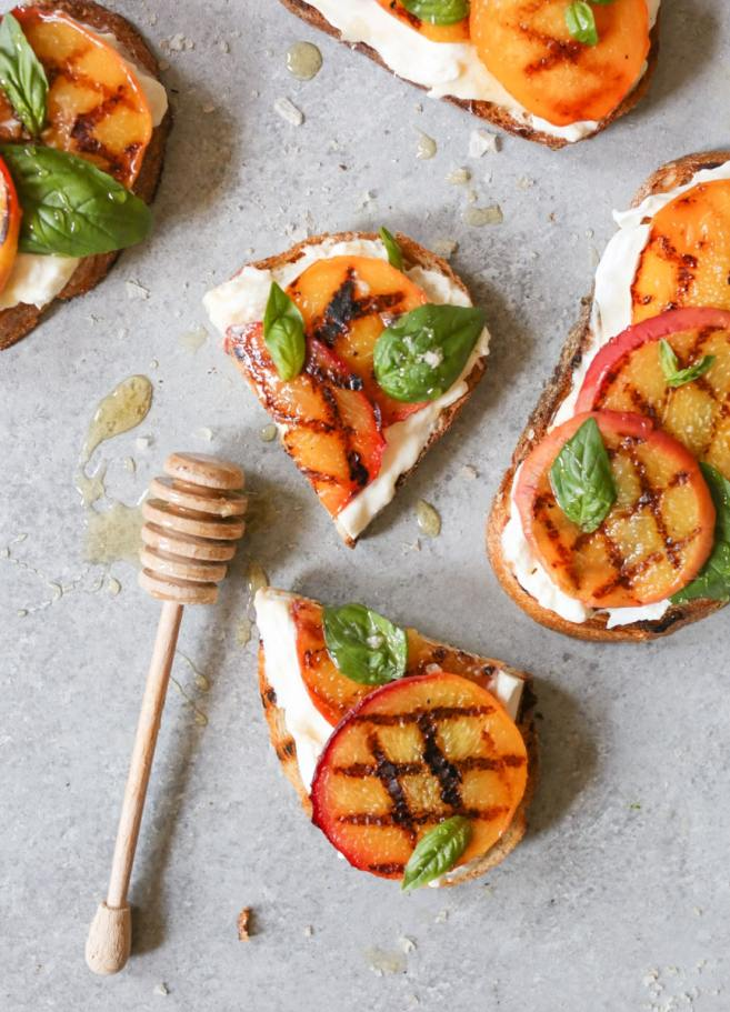 Grilled-Peach-Tartines-with-Burrata-Basil-Honey-4