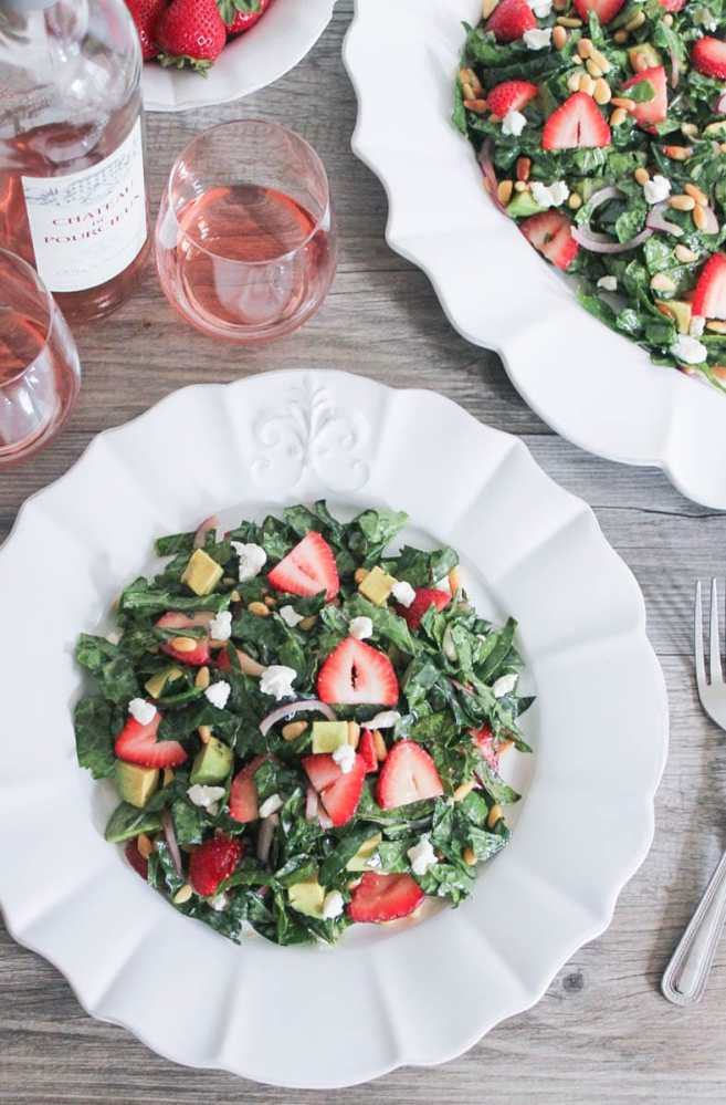 Summer-Kale-Salad-with-Strawberries-Avocado-Pine-Nuts-and-Goat-Cheese-4