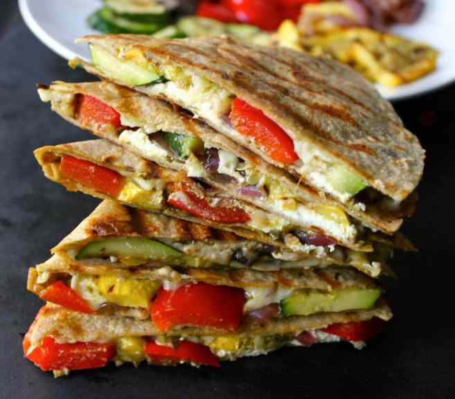 Best-Summer-Grilling-Recipes-Grilled-Vegetable-Quesadillas-with-Goat-Cheese-and-Pesto