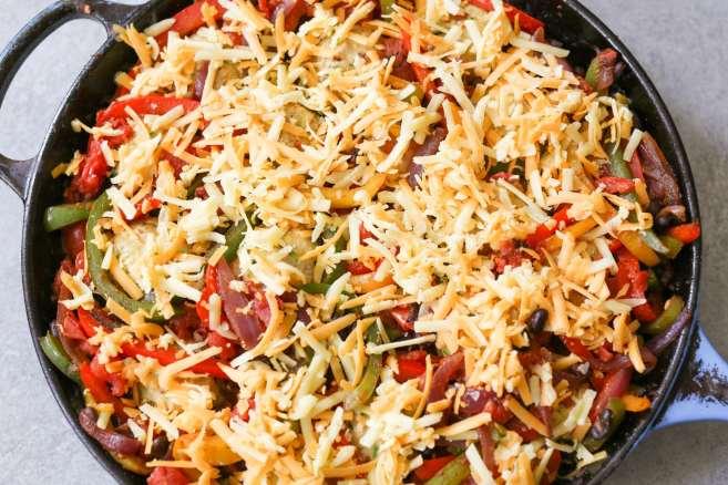 Gluten-Free-Chicken-Meatball-Fajita-Skillet-step-8