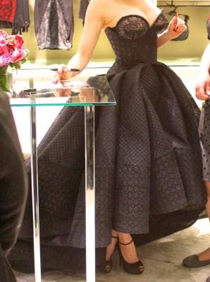 Dita Von Teese in Zac Posen at Bloomingdales lingerie launch