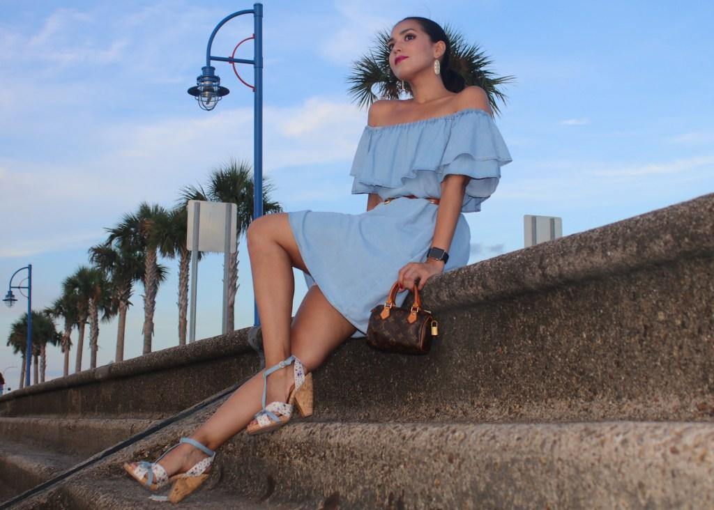 Zara Light Blue Denim Outfit
