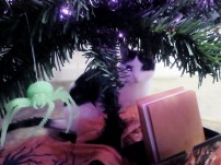 presents under halloween tree