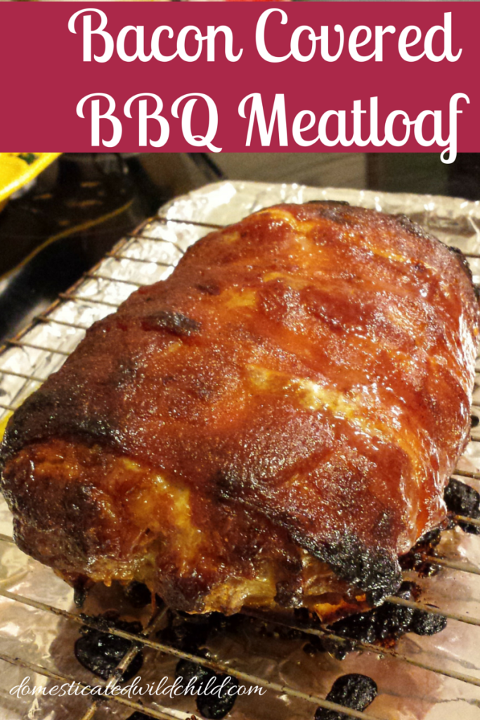 Bacon Covered BBQ Meatloaf-2