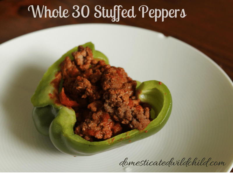 Whole 30Stuffed Peppers