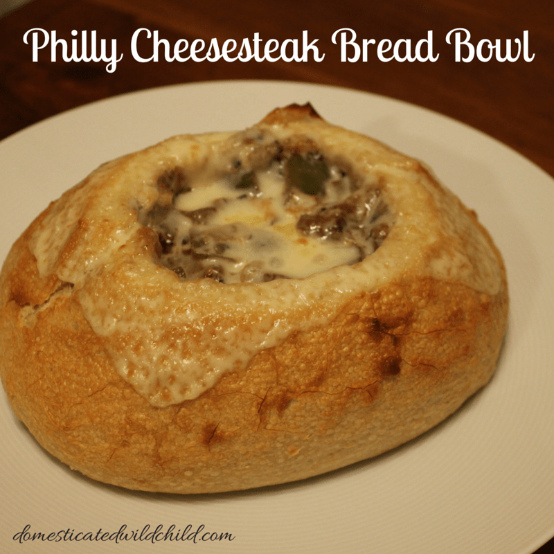 Philly Cheesesteak Bread Bowl