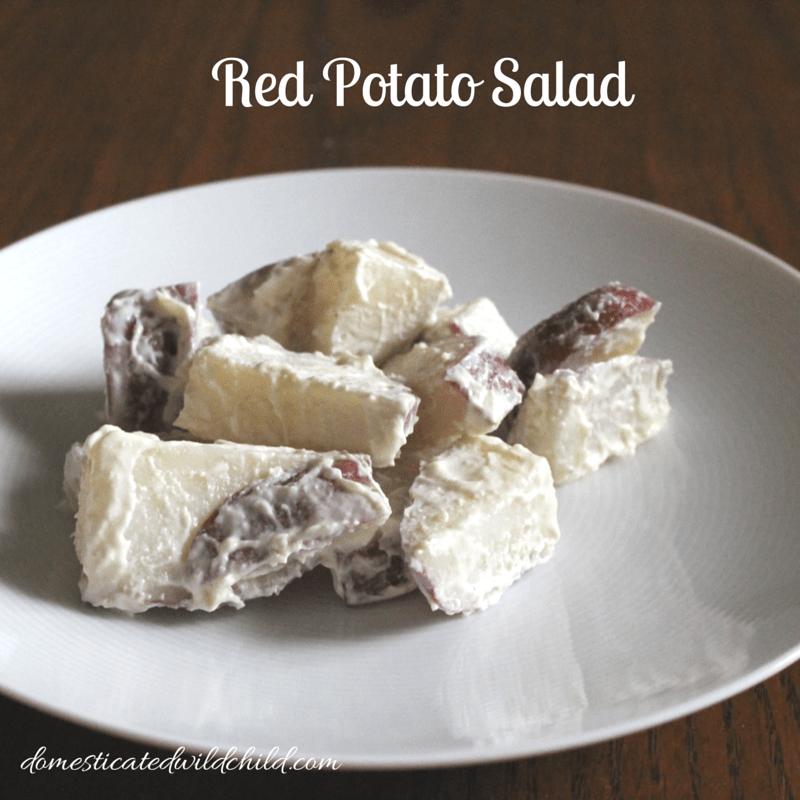 how to make red potato salad