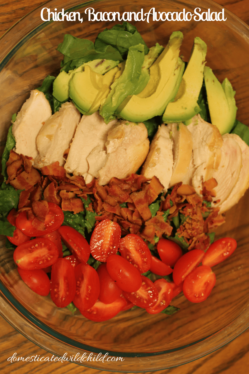 Chicken, Bacon and Avocado Salad