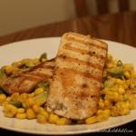 Grilled Mahi Mahi with Corn and Avocado Salad