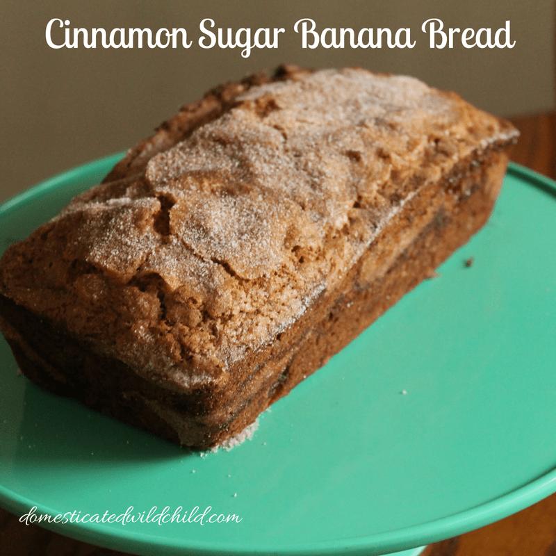 Cinnamon Sugar Banana Bread