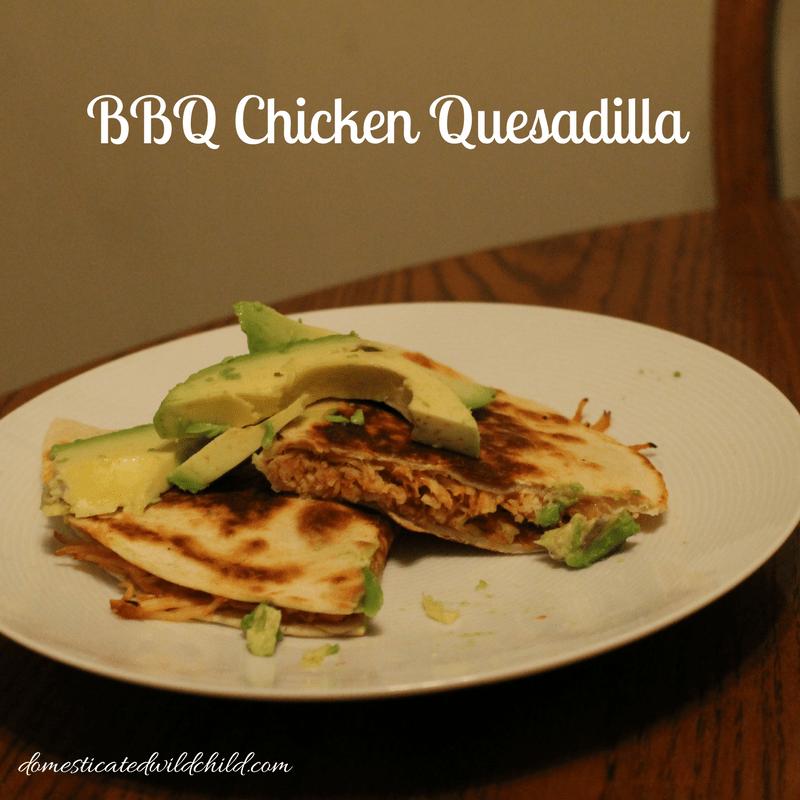 BBQ Chicken Quesadilla