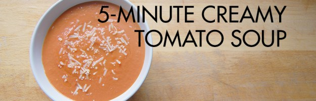 5-Minute Creamy Tomato Soup Recipe