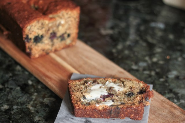 Banana Blueberry Bread-11