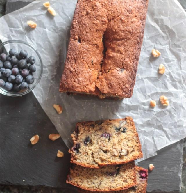 Banana Blueberry Bread-7