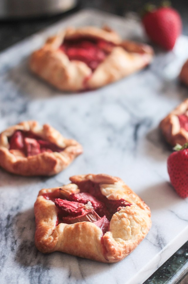 Mini Strawberry Rhubarb Galettes | Domestic Batch