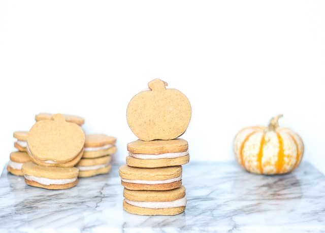 Pumpkin Sandwich Cookies | Domestic B(i)atch