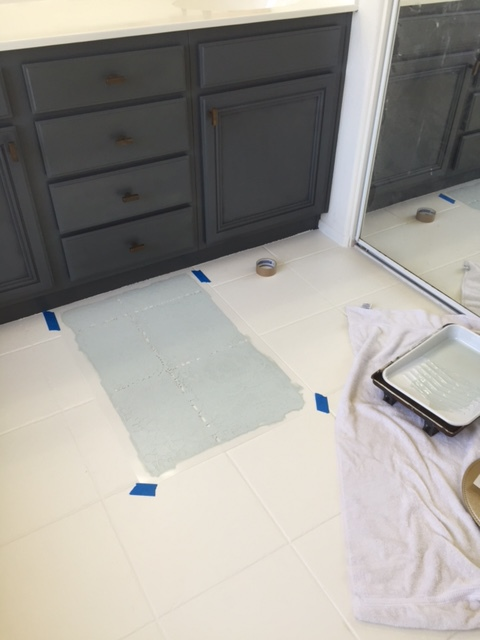 Oh Floor How I Love Thee Painted Tile Domestic Blonde