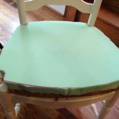 Reupholster Dining Room Chair Seat Accent Blue Reupholstering Seats Domestic Charm