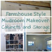 Farmhouse Mudroom Makeover Cabinets and Storage